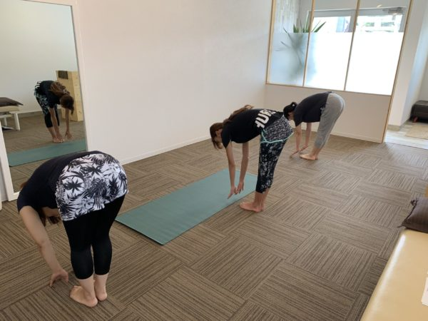 腰痛に対する立位体前屈テスト